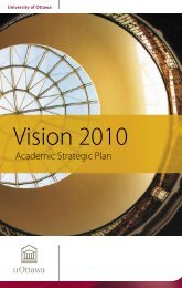 Vision 2010 - Academic Strategic Plan - Université d'Ottawa