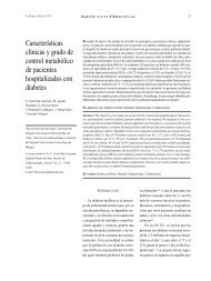Características clínicas y grado de control metabólico de pacientes ...