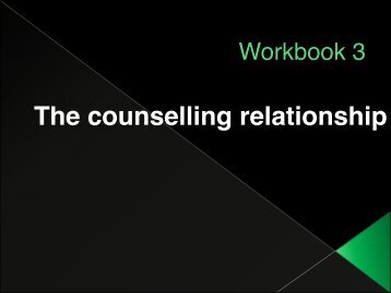 Workbook 3 - Counselling Connection