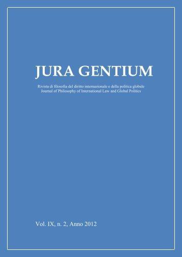Volume IX, 2012, 2 - Jura Gentium