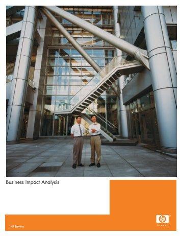 Business Impact Analysis - Hewlett-Packard