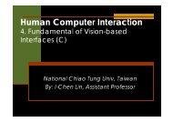 Fundamental of Vision-based interaction
