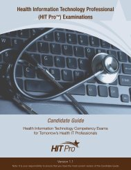 Health Information Technology Professional (HIT Pro - Pearson VUE