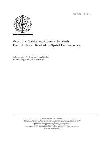 National Standard for Spatial Data Accuracy - Federal Geographic ...