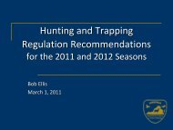 Hunting and Trapping Regulation Recommendations - Virginia ...