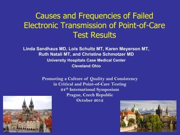 Causes and Frequencies of Failed Electronic Transmission of Point ...