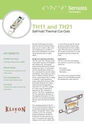 250V - 16 (2) A (Self–hold TH11 and TH21) - Sensata