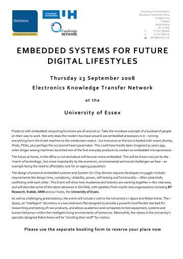 embedded systems for future digital lifestyles - Electronics ...
