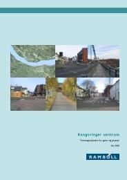 Formingsveileder for gater og plasser - Kongsvinger Kommune