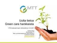 Soini Katariina Green care - Maaseutupolitiikka