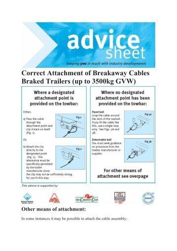 Download Breakaway Cable PDF File - Thomson Caravans