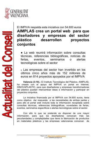AIMPLAS crea un portal web para que diseñadores y empresas del ...