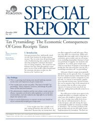 The Economic Consequences of Gross Receipts ... - Tax Foundation