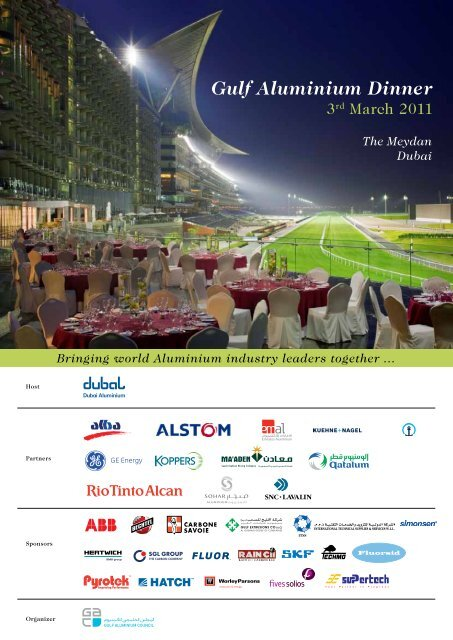 Gulf Aluminium Dinner - Gulf Aluminium Council