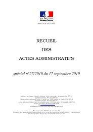 Recueil n°27 du 17 septembre 2010 - IDSR - CTP DDT