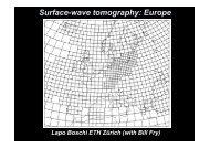 Surface-wave tomography: Europe - ETH Zürich