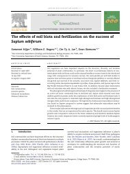 The effects of soil biota and fertilization on the ... - Rice University