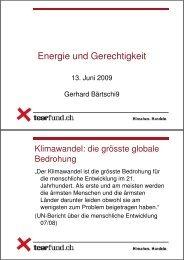 Gerhard Bärtschi: Workshop 5, Energie und Gerechtigkeit