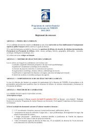 Programme de soutien financier aux doctorants de l'IHEDN 2012 ...