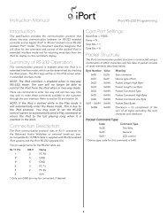 iPort RS-232 Programming Manual