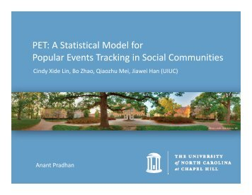 PET: A Statistical Model for Popular Events Tracking in Social ...
