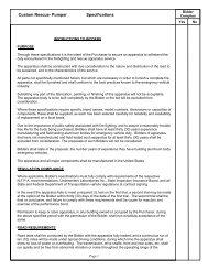 Custom Rescue- Pumper Specifications - R & R Fire Truck Repair, Inc.
