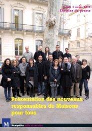 Présentation des nouveaux responsables de Maisons ... - Montpellier