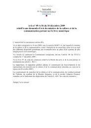 Avis n° 09-A-56 du 18 décembre 2009 relatif à une demande d'avis ...