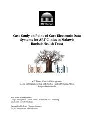 Case Study on Point-of-Care Electronic Data Systems for ART ...