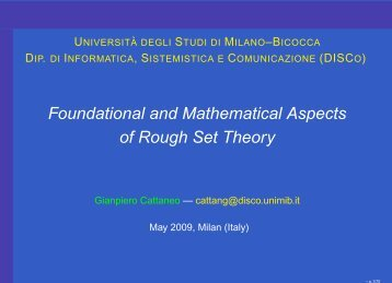 Foundational and Mathematical Aspects of Rough Set Theory