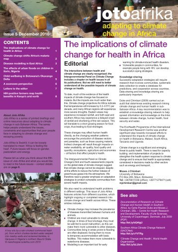 The implications of climate change for health in Africa - Eldis