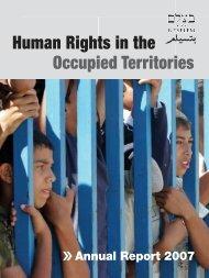2007 Annual Report - B'Tselem