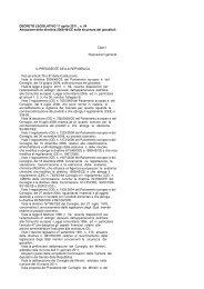 DECRETO LEGISLATIVO 11 aprile 2011 , n. 54 ... - Sicurweb