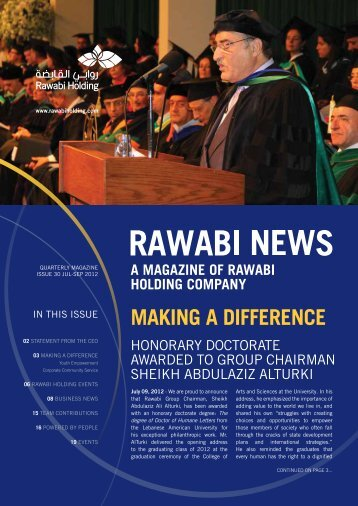 Rawabi Holding Magazine Issue 30