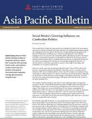 Social Media's Growing Influence on Cambodian ... - East-West Center