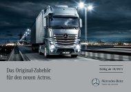 Das Original-Zubehör für den neuen Actros. - Mercedes Benz