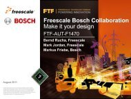 Freescale/Bosch Airbag Reference Platform