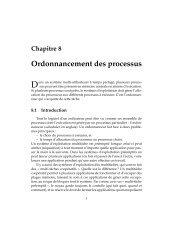 Chapitre 8 Ordonnancement des processus - Cours