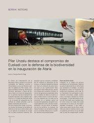Pilar Unzalu destaca el compromiso de Euskadi con la defensa de ...