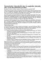 Communication interculturelle dans la coopération internatio ... - Unité