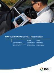 JD745A/JD785A CellAdvisor™ Base Station Analyzer - EN4TEL