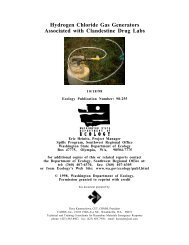 Hydrogen Chloride Gas Generators Associated with Clandestine ...
