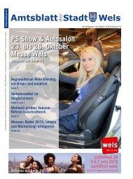 Amtsblatt der Stadt Wels Oktober 2010 (15 MB)