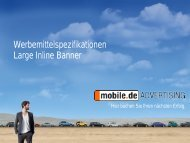 Large Inline Banner - mobile.de Advertising