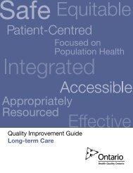 Quality Improvement Guide - Long-term Care - Health Quality Ontario