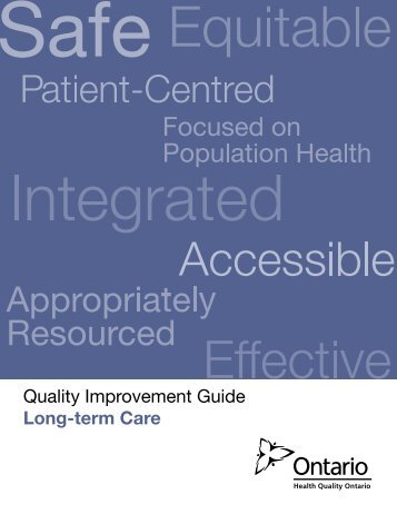 Quality Improvement Guide - Long-term Care - Health Quality Ontario