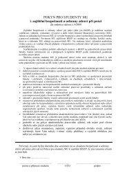 Pokyny pro studenty k zajištění bezpečnosti a ochrany zdraví při ...