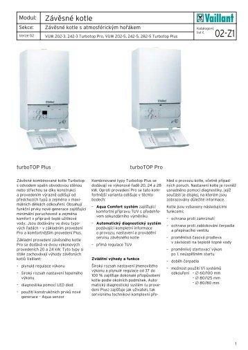 Vaillant VUW turboTOP Pro Plus technická dokumentace.pdf