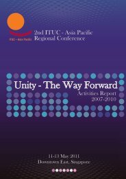 ITUC-AP Activities Report 2007 - 2010