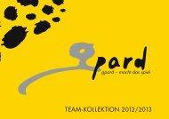 TEAM-KOLLEKTION 2012/2013 - Swiss Sportsystem